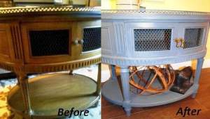 ReStore shoppers shop for all different reasons — finding a special and unique treasure, getting outrageous bargains or buying for resale. Others are looking to renovate the objects they find at the ReStore, as shown in these before and after pictures. PHOTOS PROVIDED BY LYNN FERN OF FERN AVENUE