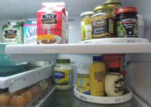 Using turntables in the refrigerator instantly organizes items so they won't be lost in the back of the fridge. PHOTOS BY CLAUDIA JACOBS