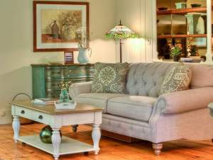 """Royal Furniture provided furniture, lamps and accessories for Claudia Jacobs Designs' staging of Oscar and Bissy Dino's Middletown home, which is being featured on HGTV's """"House Hunters"""" show. PHOTO BY STEVE BELNER OF PHOTOVISIONS"""