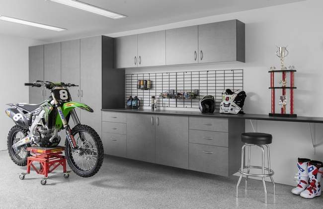 While many options exist, be sure to invest in quality storage systems in your garage. PHOTO PROVIDED BY FRED DAY OF HUDSON VALLEY CLOSETS
