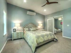 Master bedroom at Canterbury Avenue in Cornwall, the latest residential redevelopment by Haven Homes LLC. Staged by Claudia Jacobs Designs. STEVE BELNER, PHOTOVISIONS