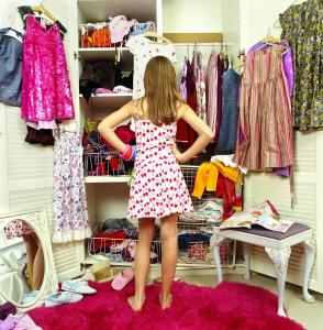 How can one have a closet full of clothes and nothing to wear? The same items get worn all the time, and the rest just hang there.