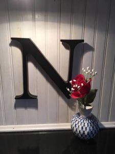 """N"" initial provided by Nina Hoffman Steen"