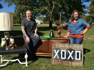 Marty McDermott and Robyn Yearwood, owners of Warwick's Retro Modern Antiques.