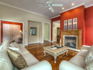 Red accent walls of 19 Bridges Street, Warwick, NY presented by Teri Powers of Keller Williams Realty First in New York PHOTO CREDIT: STEVE BELNER OF PHOTOSVISIONS
