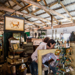 Shoppers filled Fox Run Antiques' booth. Andrew Romulo, A Day in the Life Photos