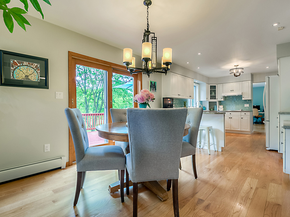 The Kitchen With A Peek Into Original Dining Room Turned Living Home Office For Many Years Making Better Use Of Space