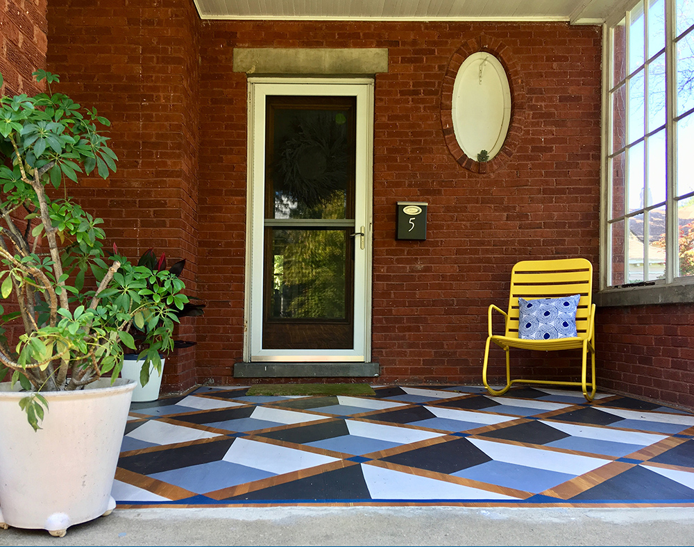 Julia Whitney Barnes White House Porch geometric Painting